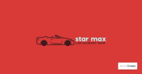 Small star max auto accessories logo